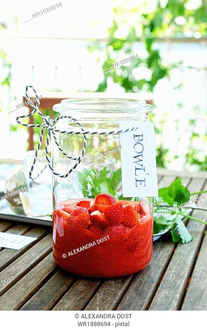 Cold Punch With Strawberries