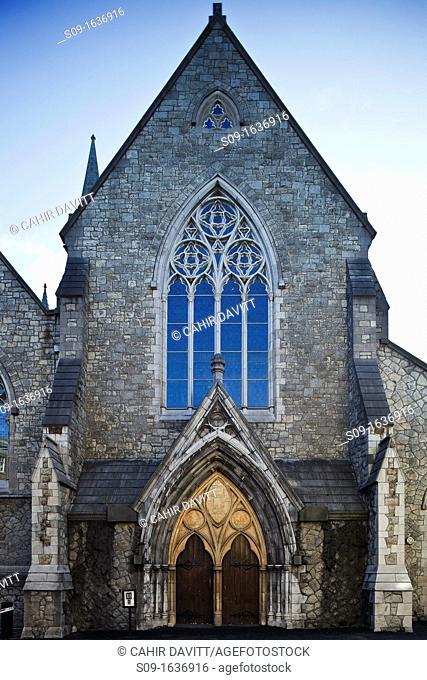 Ireland, Dublin, Suffolk Street, Architectural door and window detail of the Dublin Tourism Office