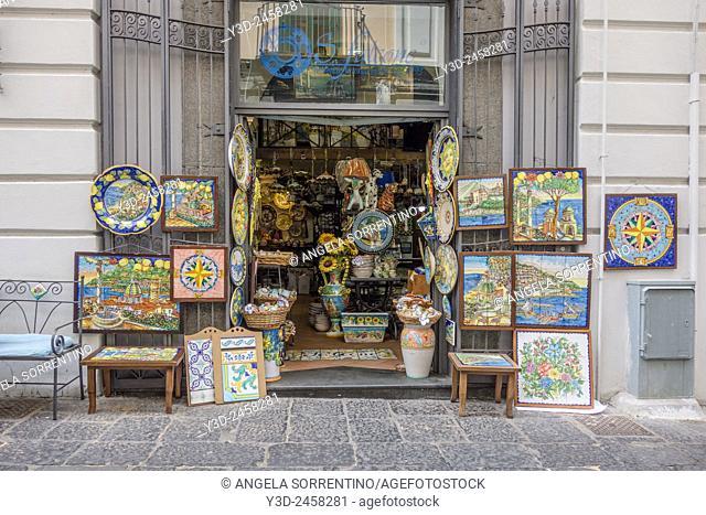 Street of Vietri town. Province of Salerno, Campania, Italy