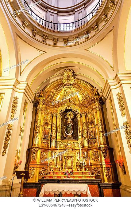Basilica Dome Mary Baby Jesus Statue Santa Iglesia Collegiata de San Isidro Madrid Spain. Named after Patron Saint of Madrid, Saint Isidore