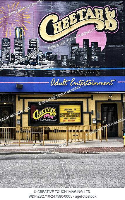 Cheetah's adult entertainment strip club in downtown Windsor, Ontario, Canada