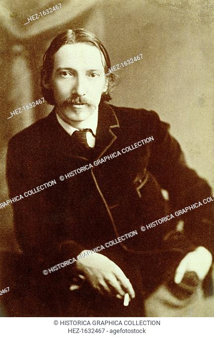 Robert Louis Stevenson, Scottish author, c1870-1894. Stevenson (1850-1894) is best known for his adventure novels, including Treasure Island (1883)