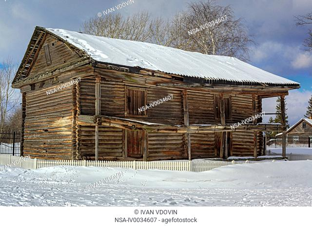 Old wooden house, Cherepovets, Vologda region, Russia