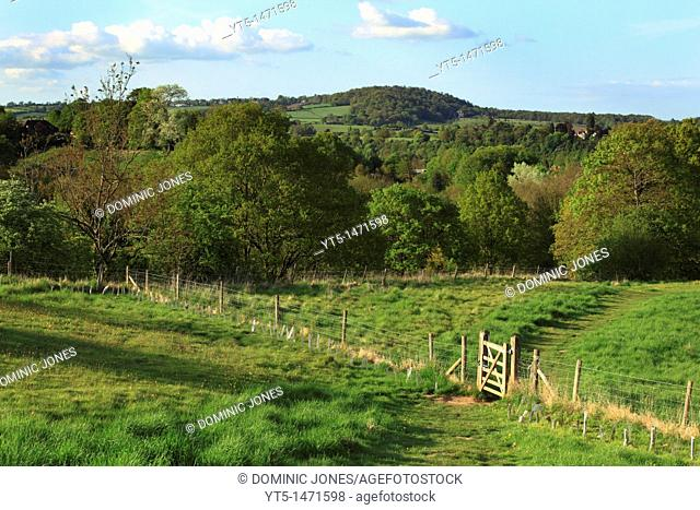 Looking across the rolling countryside of the Severn Valley, Near Bewdley, Worcestershire, England, Europe