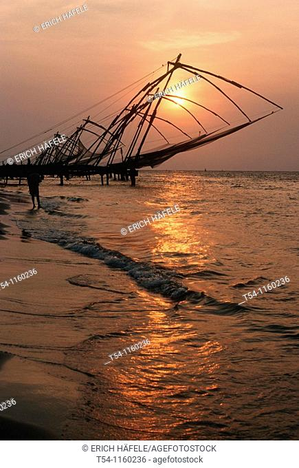 Chinese fishing nets in Cochi