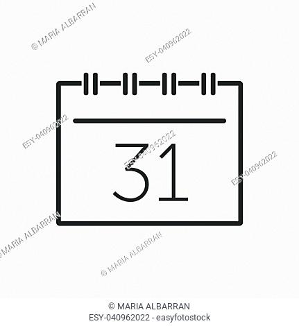 Calendar line icon on a white background. Vector illustration