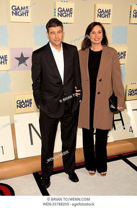 Celebrities attend World Premiere of 'Game Night' at TCL Chinese Theater. Featuring: Kyle Chandler, Kathryn Chandler Where: Los Angeles, California
