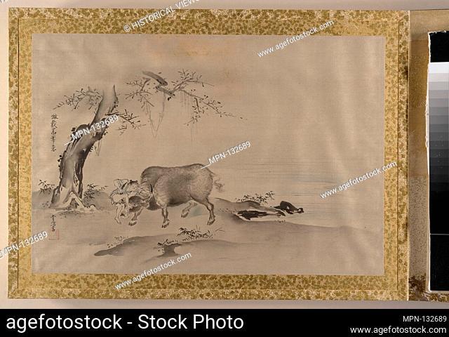 Album of Copies of Chinese Paintings. Artist: Kano Tsunenobu (Japanese, 1636-1713); Artist: .1. After Zhao Mengfu (Chinese, 1254-1322); Artist: