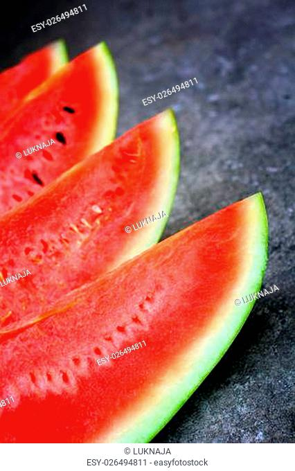 Watermelon on the gray background