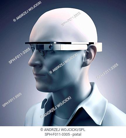 Wearable technology, computer illustration