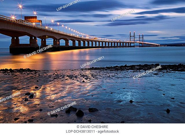 England, North Somerset, Bristol. Second river Severn crossing between South East Wales and Gloucestershire in England