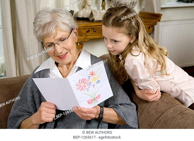 Grandmother spending time with her granddaughter