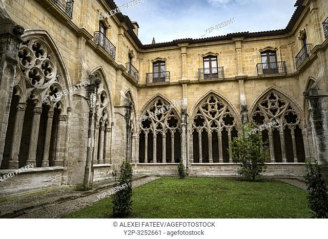 Cloister of Cathedral of San Salvador in Oviedo, Asturias, Spain