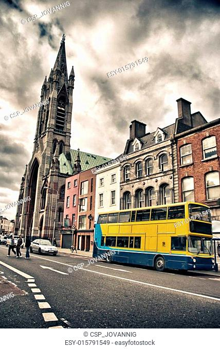 Dublin Street with Typical Bus