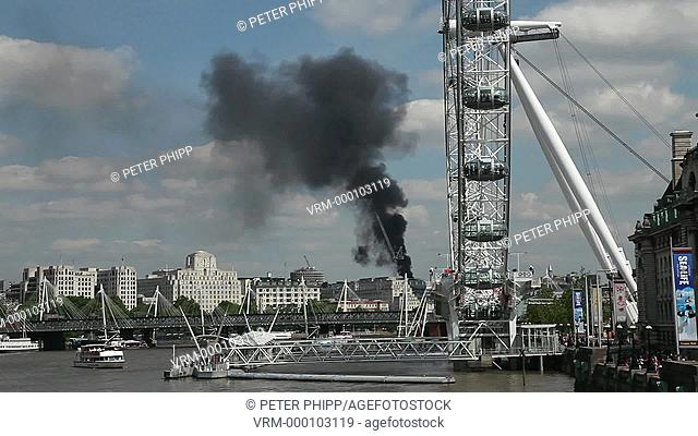 Major Fire ina building in central London