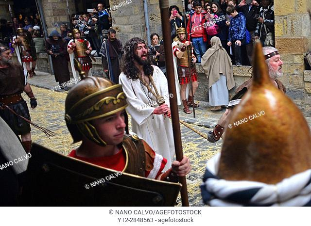 Representation of the Passion of Jesus Christ during Good Friday in Castro Urdiales, Spain