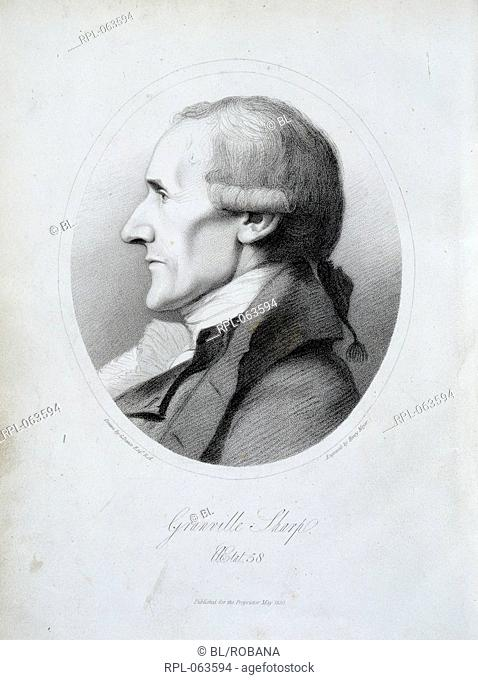Portrait of Granville Sharp 1735 - 1813. English abolitioniSt Image taken from Memoirs of Granville Sharp Esq. Composed from his own manuscripts and other...