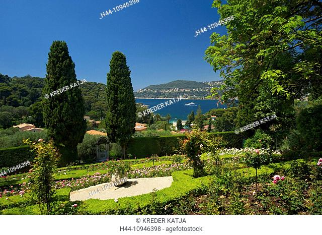 France, Europe, South of France, Cote d'Azur, Ephrussi de Rothschild, Saint Jean, Cap Ferrat, horticulture, garden, outside, day