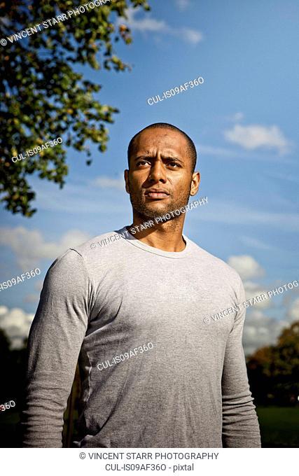 Man standing in park