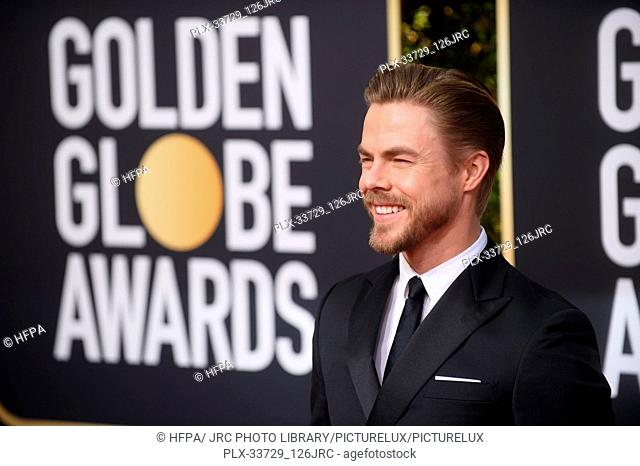 Derek Hough arrives at the 76th Annual Golden Globe Awards at the Beverly Hilton in Beverly Hills, CA on Sunday, January 6, 2019