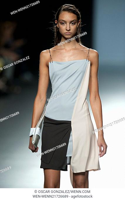 Mercedes-Benz Madrid Fashion Week Spring /Summer 2015 - Miguel Alex - Catwalk Featuring: Model Where: Madrid, Spain When: 16 Sep 2014 Credit: Oscar...