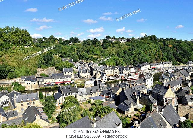 France, Cotes d'Armor, Dinan, Dinan harbour along Rance river