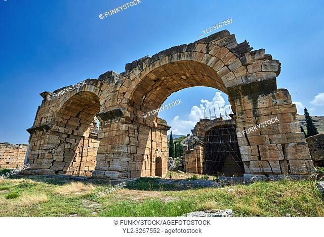 Picture of the Roman Basilica Baths. Hierapolis archaeological site near Pamukkale in Turkey