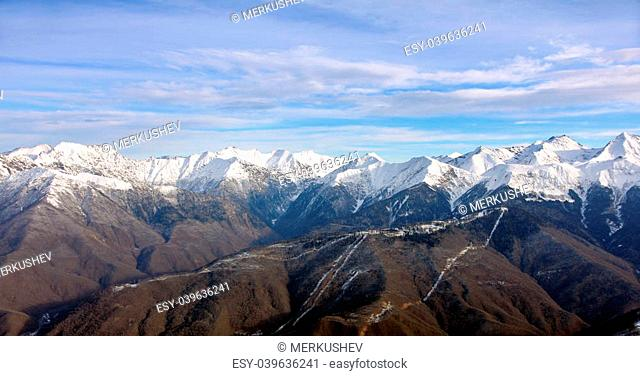 The mountain landscape in Krasnaya Polyana. Sochi - capital of Winter Olympic Games 2014