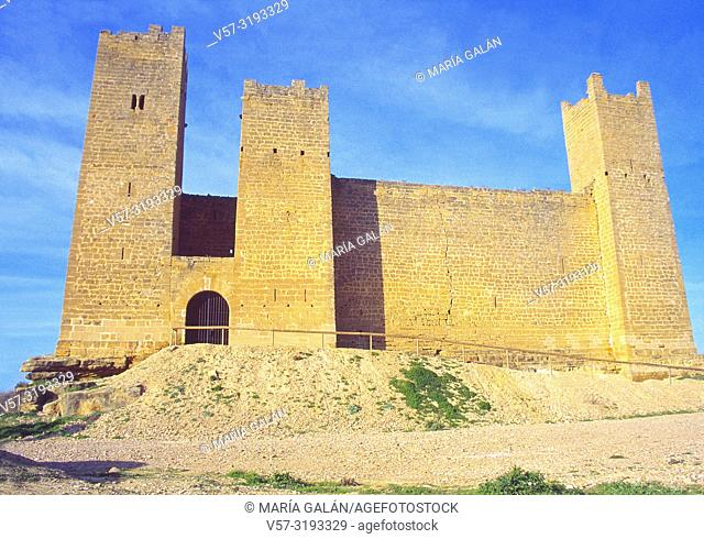 Castle. Sadaba, Zaragoza province, Aragon, Spain