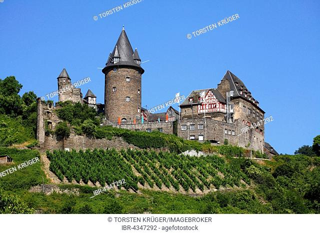 Burg Stahleck youth hostel in Bacharach, Middle Rhine Valley, Rhineland-Palatinate, Germany