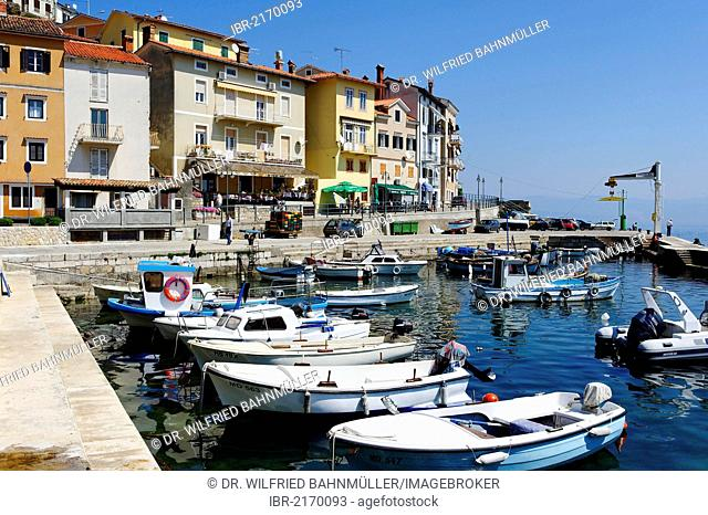 Harbour, Moscenicka Draga, Istria, Croatia, Europe