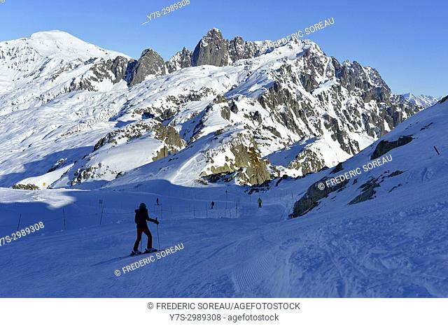 Brevant ski area, Chamonix Valley Mont Blanc,French Alps,Haute Savoie,France,Europe