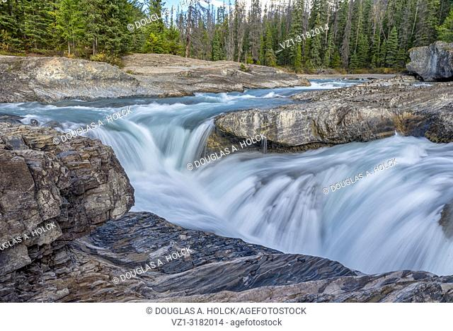Natural Bridge Fall on Kicking Horse River, Yoho National Park, British Columbia, Canada