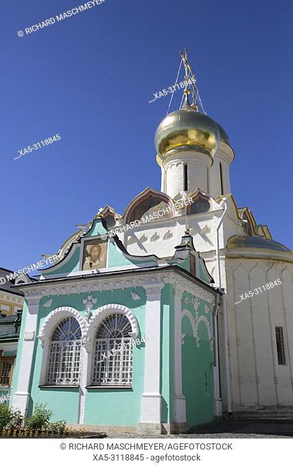 St Nikon Church, The Holy Trinity Saint Serguis Lavra, UNESCO World Heritage Site, Sergiev Posad, Golden Ring , Russia