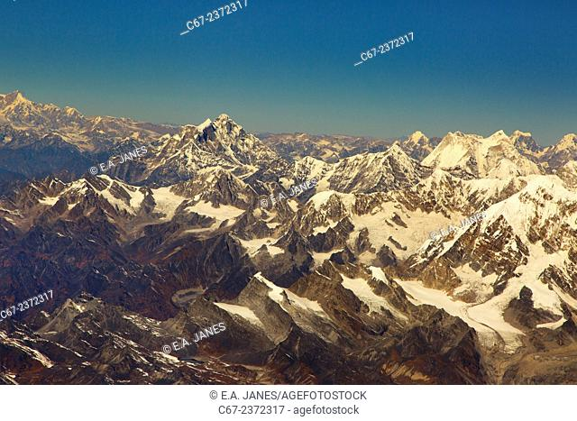 Mount Everest 8848mts or Sagarmatha in the hymalayers Nepal