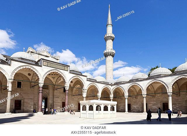 Suleymaniye Mosque in Bazaar District; Istanbul, Turkey