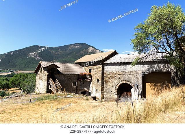 Rural landscape in Larrede Pyrenees Huesca Aragon Spain