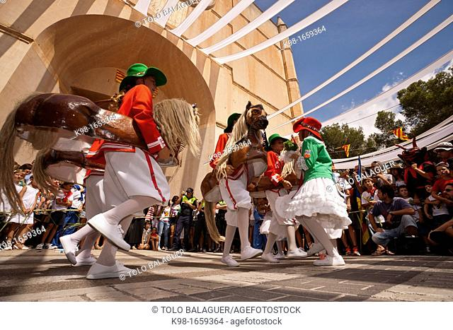 Balearic islands Spain Felanitx, Mallorca The traditional dance of Cavallets, from year 1603