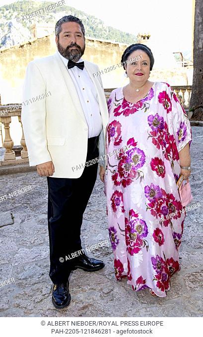 Grand Duchess Maria Vladimirovna of Russia.and Grand Duke Georgi of Russia arrive at the Esglesias de Montes-Son in Pollensa, on June 29, 2019