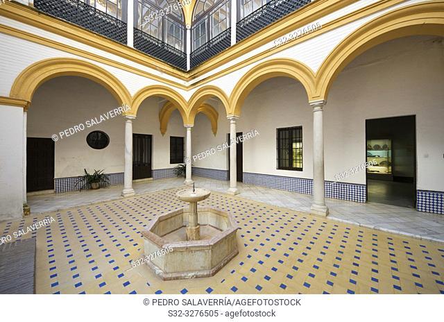 Patio del Cuarto Militar in Reales Alcazares, Seville, Andalucia, Spain