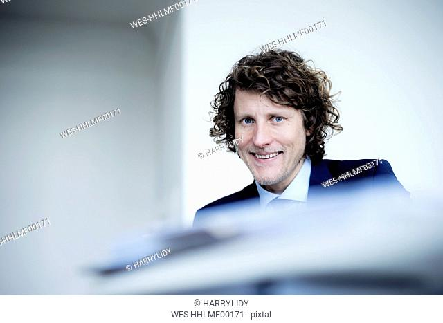Portrait of a businessman in his office