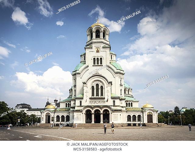 Saint Alexander Nevsky eastern orthodox Cathedral landmark in central downtown sofia bulgaria