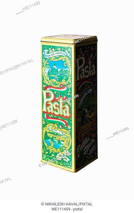 Old pasta tin box