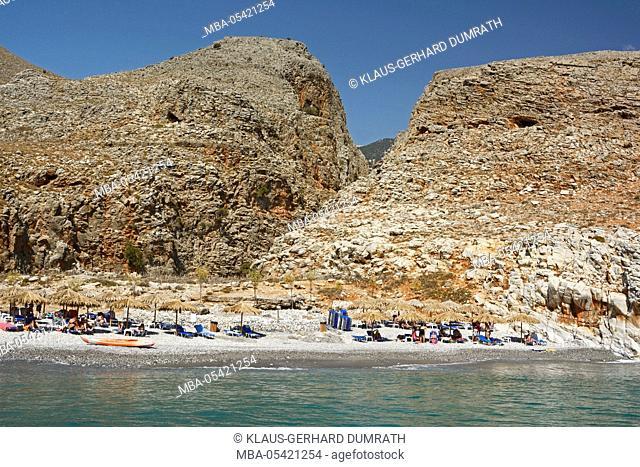 Crete, Finika bay with Marmara beach