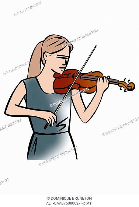 Illustration of a female violinist