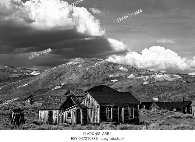 Bodie is a historic ghostown by highway 395 in the Eastern Sierras