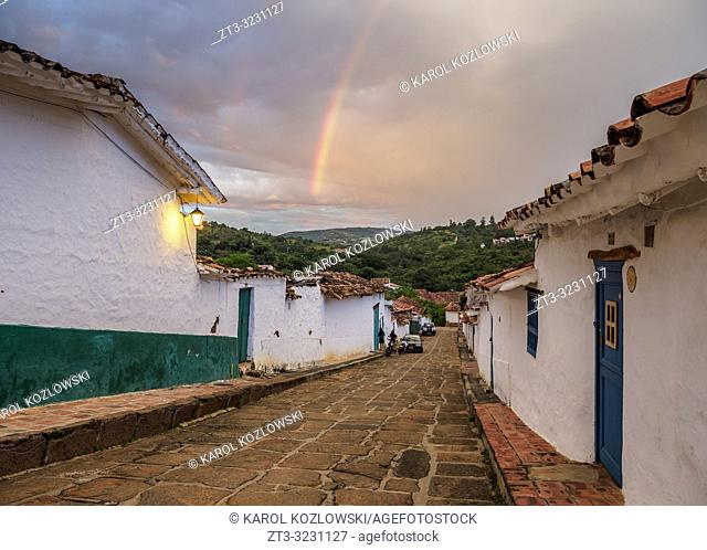 Street of Barichara, Santander Department, Colombia