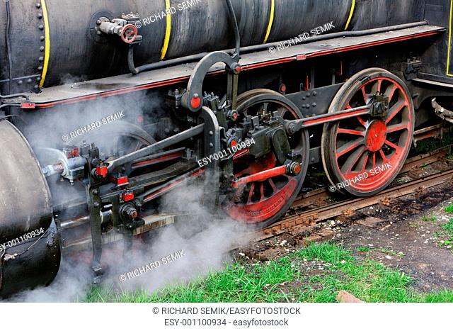detail of steam locomotive 126 014, Resavica, Serbia