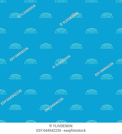 Pizza pattern vector seamless blue repeat for any use