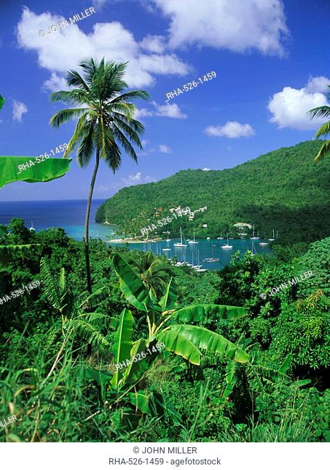 Marigot Bay, St. Lucia, Windward Islands, Caribbean, West Indies, Central America